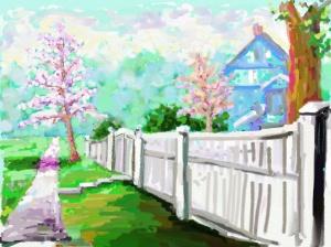 Kensington, Maryland. iPad Art